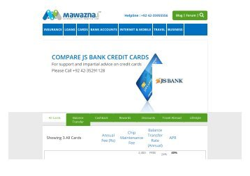 JS Bank credit cards