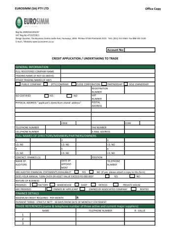 customer copy credit application form gap group