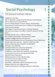 Dissertation on social psychology