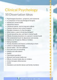 Forensic Psychology Dissertation Ideas Clinical Idea