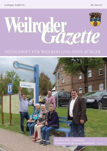 Weilroder Gazette Mai/Juni 2018