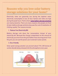 Reasons why you love solar battery storage solutions for your home