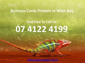 Business Cards Printers in Wide Bay