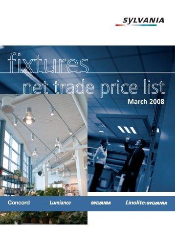 net trade price list - Sylvania   Trade Lighting