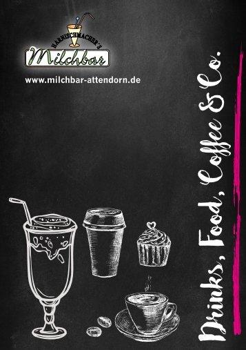 Milchbar Attendorn Speisekarte