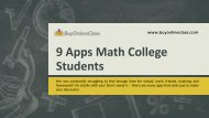 9 Apps Math College Students