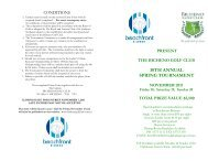 present the bicheno golf club 30th annual spring tournament ...