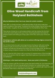 Olive Wood Handicraft from Holyland Bethlehem