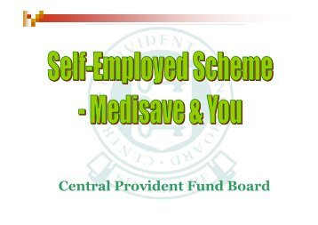 Medisave for the Self-Employed - ACRA