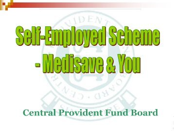 Medisave for the Self-Employed Scheme - ACRA