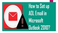 18004885392 Set Up AOL Email In Microsoft Outlook 2010