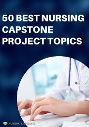 Capstone Project Ideas Nursing