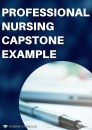 Professional Nursing Capstone Example