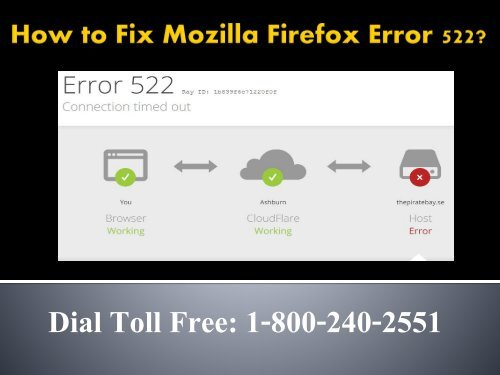 How to Fix Mozilla Firefox Error 522 Dial 1-800-240-2551 For Help