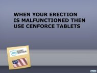 WHEN YOUR ERECTION IS MALFUNCTIONED THEN USE CENFORCE TABLETS