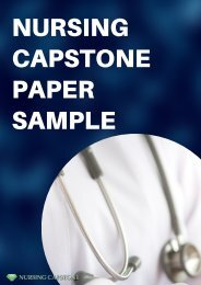 Nursing Capstone Paper Sample