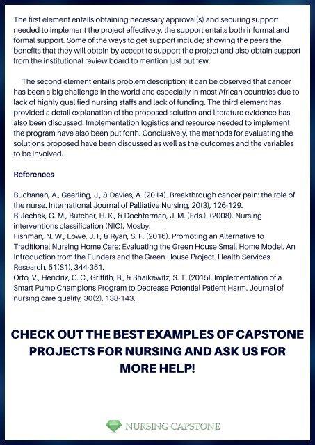 Nursing Capstone Paper Sample