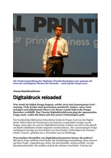 Digitaldruck reloaded - Mediaforum