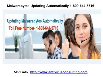 Malwarebytes Updating Automatically 1-800-644-5716