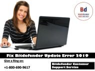Fix Bitdefender Update Error 2019
