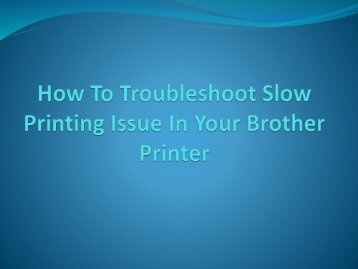 How To Troubleshoot Slow Printing Issue In Your Printer