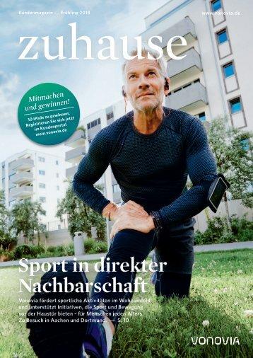 "Vonovia Kundenmagazin ""zuhause"" Frühjahr 2018"