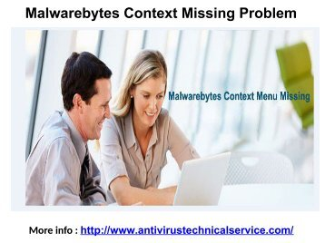 Malwarebytes Context Missing Problem