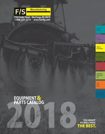 2018 Equipment & Parts Catalog