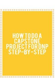 How to Do a Capstone Project for DNP Step-by-Step
