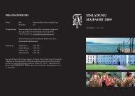 Einladung MaiFaHRT 2009