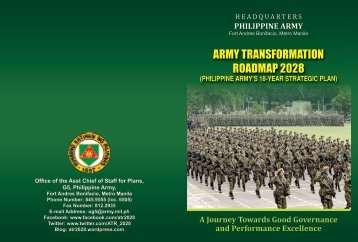 ARMY TRANSFORMATION ROADMAP 2028 - Philippine Army