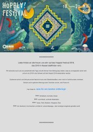 Info's Hoppla! Festival