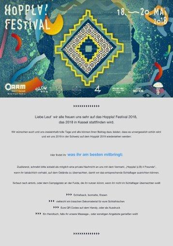 Info Gäste Hoppla! Festival