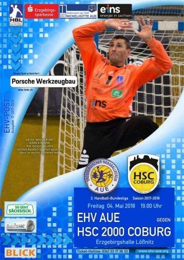 EHV-POST: EHV Aue gegen HSC 2000 Coburg