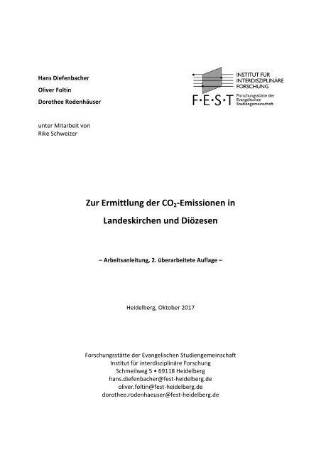 Zur Ermittlung der CO2-Emissionen in Landeskirchen und Diözesen