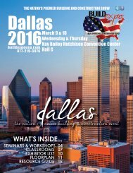 Dallas 2016 Build Expo Show Directory