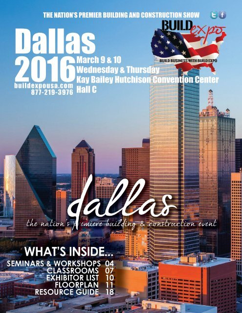 Dallas 2016 Build Expo Show Directory