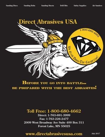 Direct Abrasives USA Catalog Revised 2017