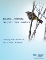 Hazelden Trauma Treatment Brochure
