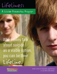 LifeLines Suicide Prevention Program