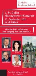 9. St. Galler Management-Kongress 23. September 2011 in St. Gallen