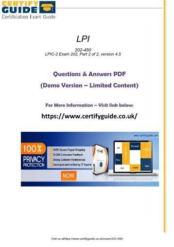 202-450 Free PDF Demo Material 2018