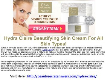 Hydra Claire Anti Aging with Natural Ingredients
