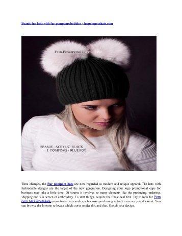 stylish  Fur pompom beanie for fashion accessories