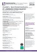Saturday, May 12, 2018 / Isabel Bayrakdarian, Soprano and St. Lawrence String Quartet / CAMA's Masterseries at The Lobero Theatre, 8:00 PM - Page 5