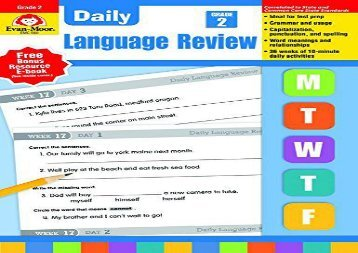 PDF FREE DOWNLOAD  Daily Language Review Grade 2 READ ONLINE