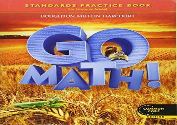 PDF FREE DOWNLOAD  Go Math!: Student Practice Book Grade 2 TRIAL EBOOK