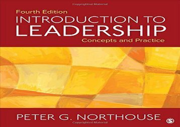 PDF FREE DOWNLOAD  Introduction to Leadership: Concepts and Practice DOWNLOAD ONLINE