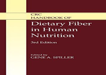 BEST PDF  CRC Handbook of Dietary Fiber in Human Nutrition, Third Edition BOOK ONLINE