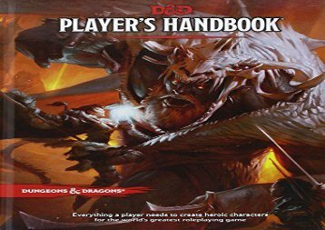 Pdf download Dungeons   Dragons Player s Handbook (Dungeons   Dragons Core Rulebooks) Full page